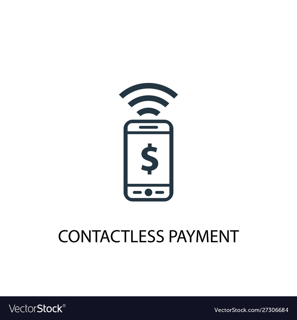 Contactless payment icon simple element