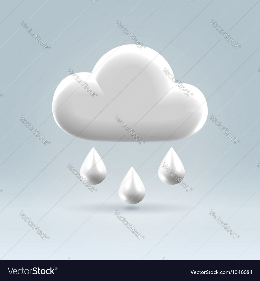 Glossy white plastic weather icon