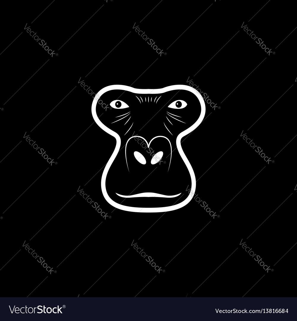 Gorilla head logo animal mascot logotype vector image
