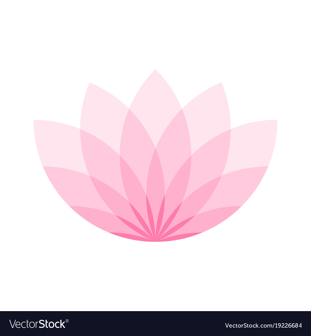 Pink lotus flower icon symbol of yoga and beauty vector image mightylinksfo