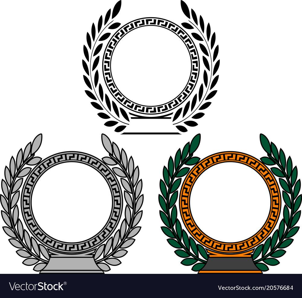 Set of frames with laurel wreaths