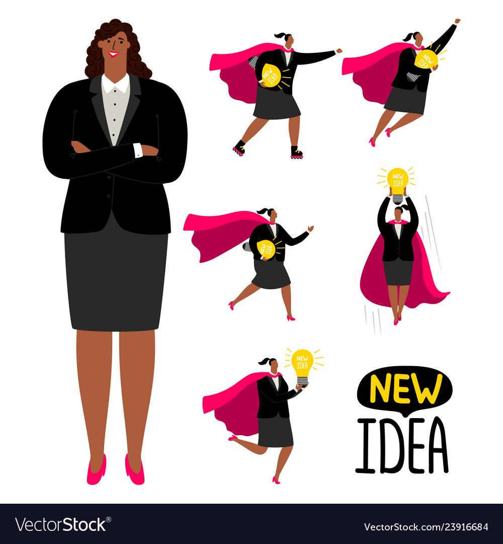 Successful afroamerican businesswoman - new idea