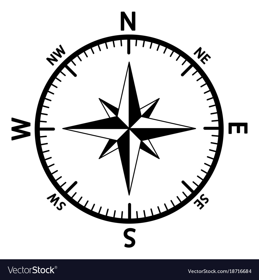 The Emblem Of The Compass Rose Royalty Free Vector Image