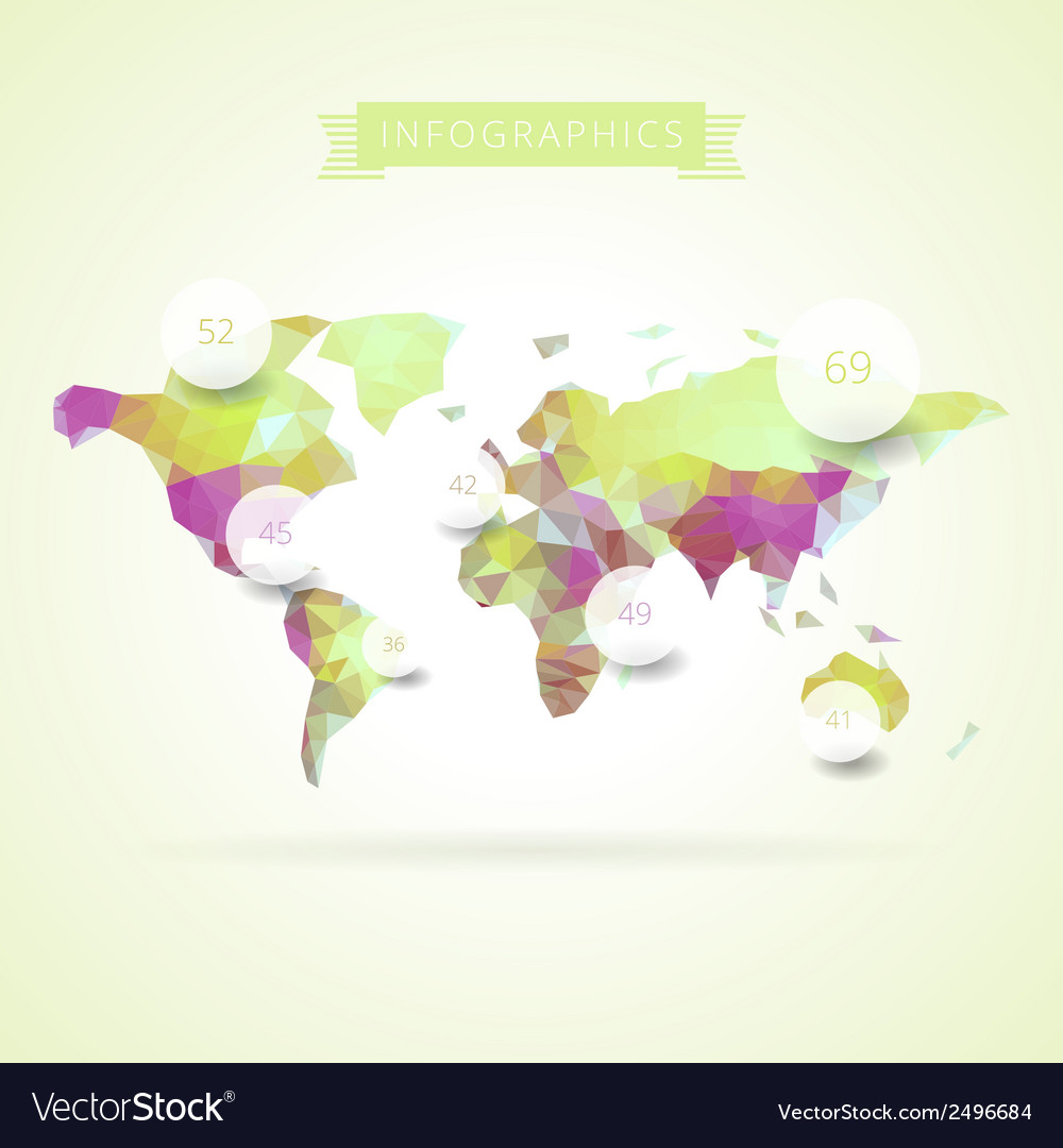World map with elements of infographics