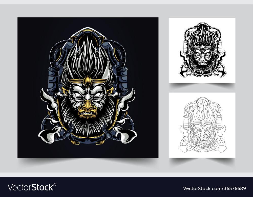 Angry monkey artwork