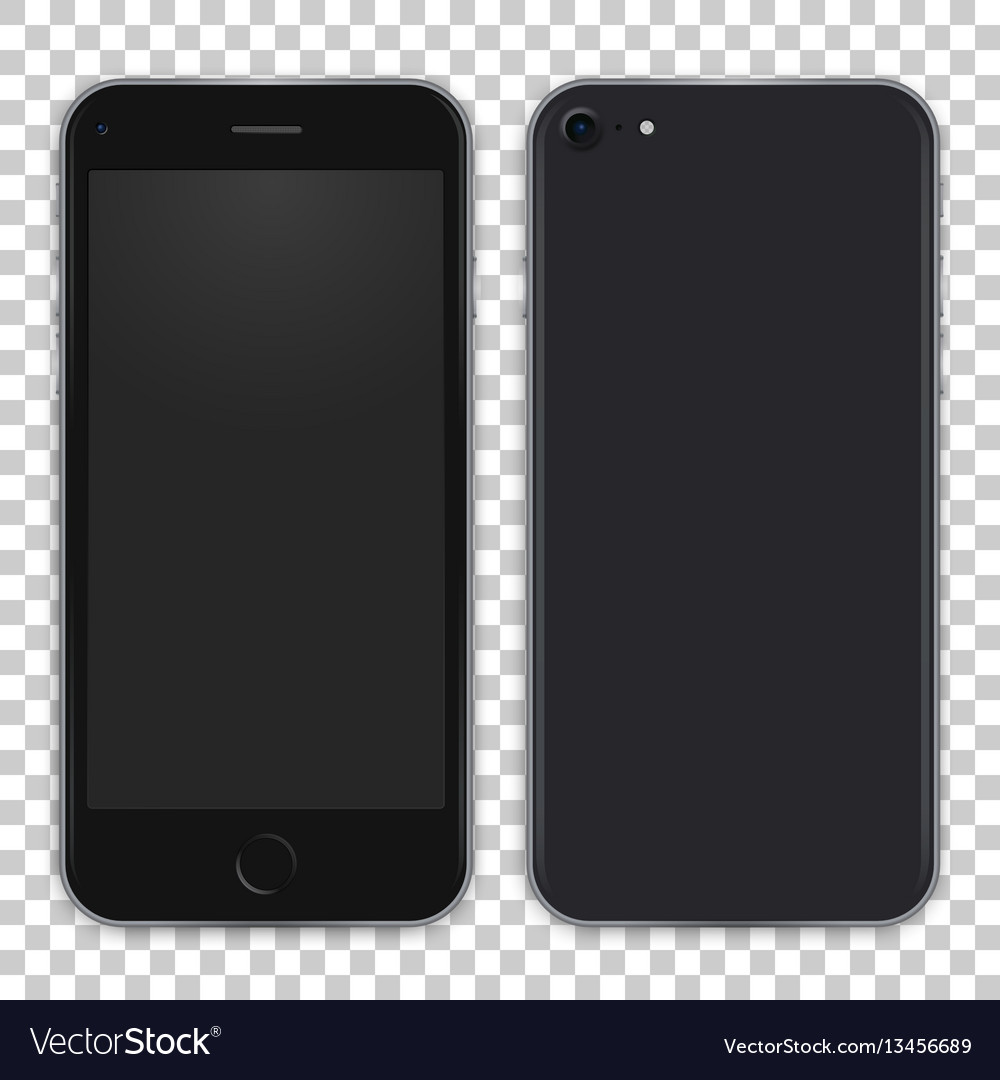 Black phone concept from front side and back view
