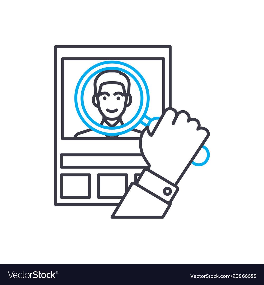 Customer analysis thin line stroke icon