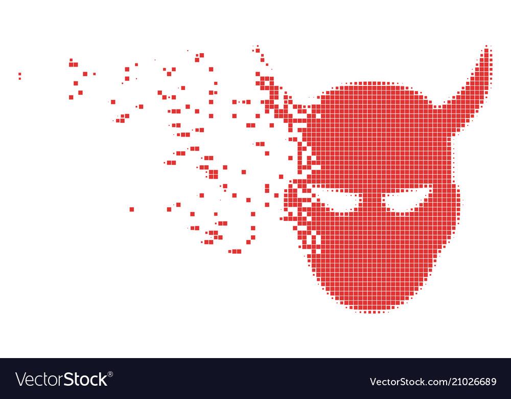 Daemon head dissolved pixel icon