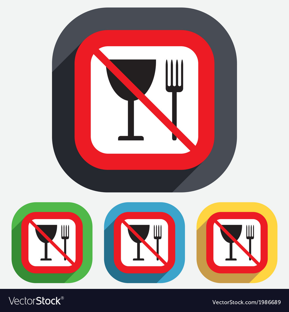 Eat Sign Icon Cutlery Symbol Fork And Wineglass Vector Image