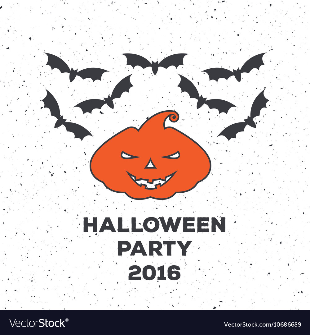 Emblem or poster for a holiday Halloween