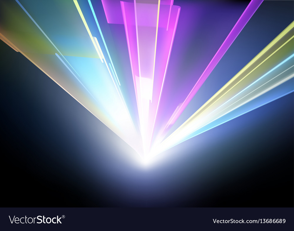 Laser disco lights background vector image