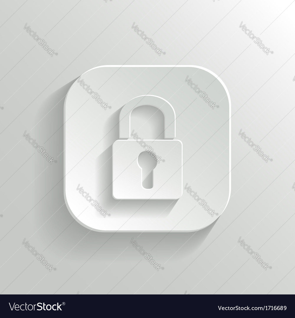 Lock icon - white app button