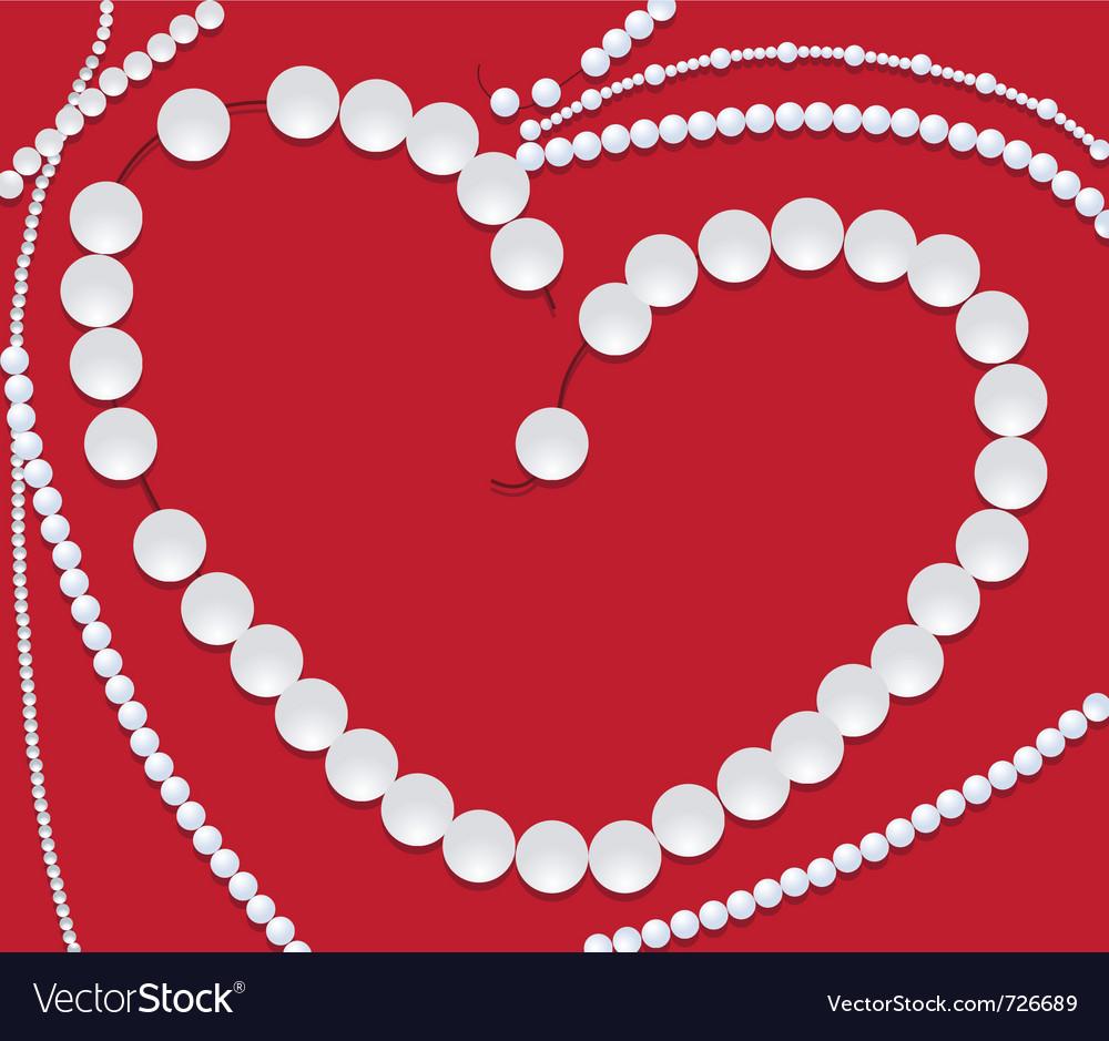 Pearls neclace of heart shape
