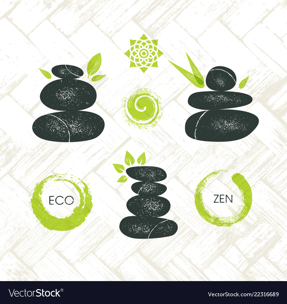 Spa retreat organic eco pebble garden zen design