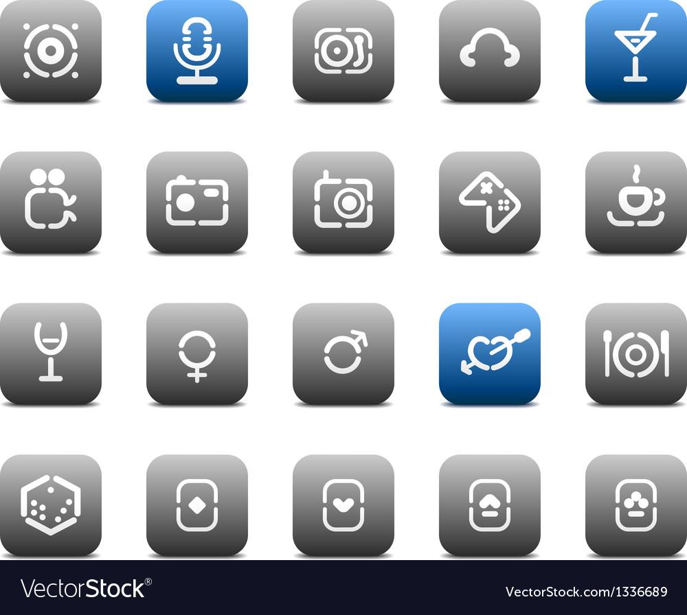 Stencil matt buttons for business