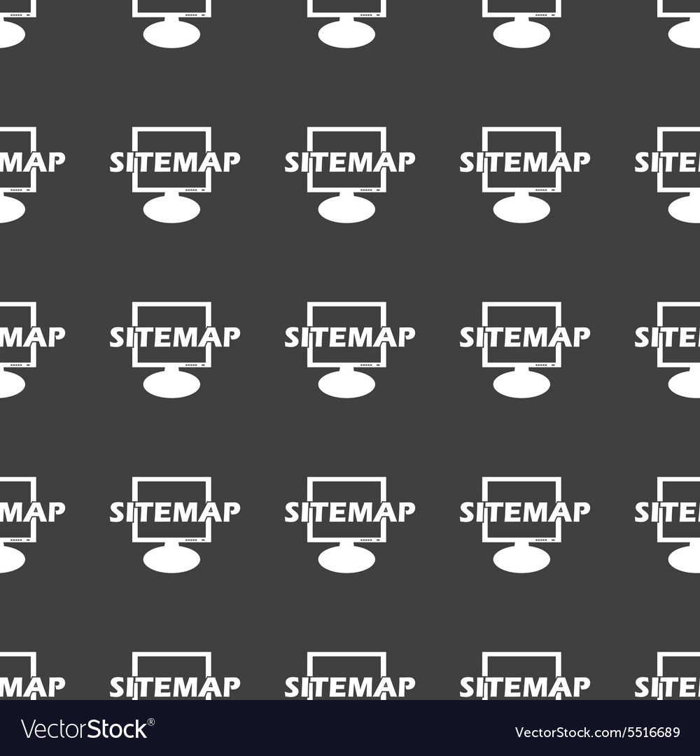 Straight black sitemap pattern