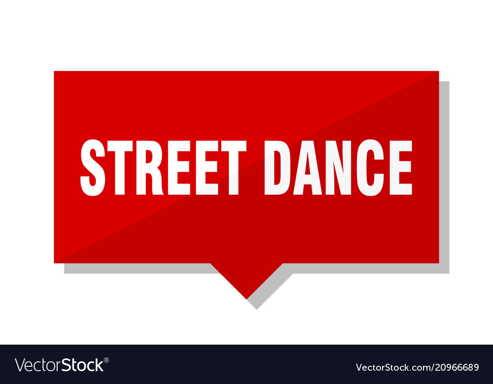 Street dance red tag