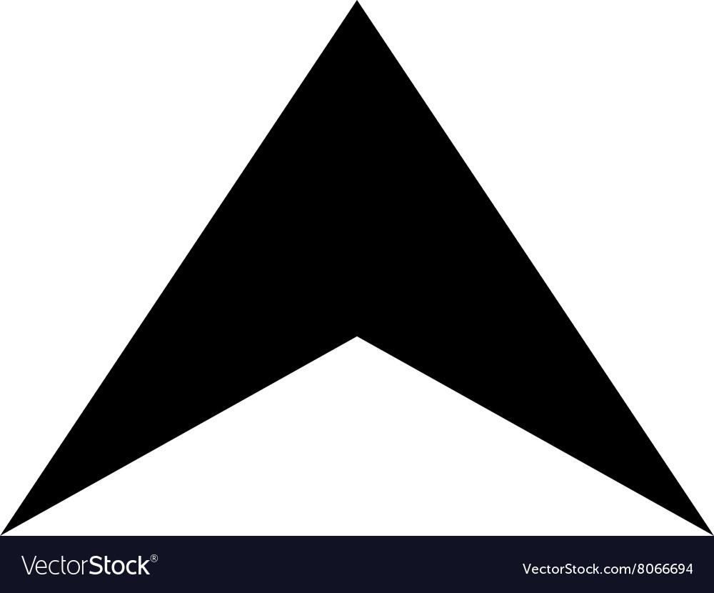 arrowhead up flat icon royalty free vector image rh vectorstock com arrowhead vector black vectorworks arrowhead