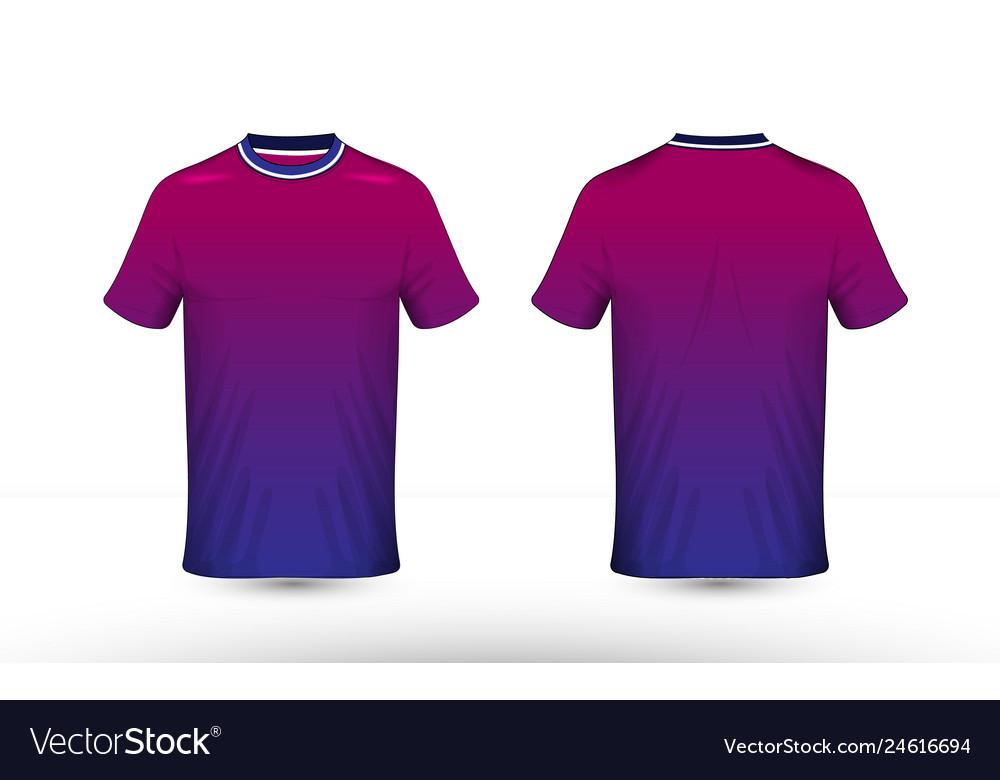 Blue purple and white layout e-sport t-shirt