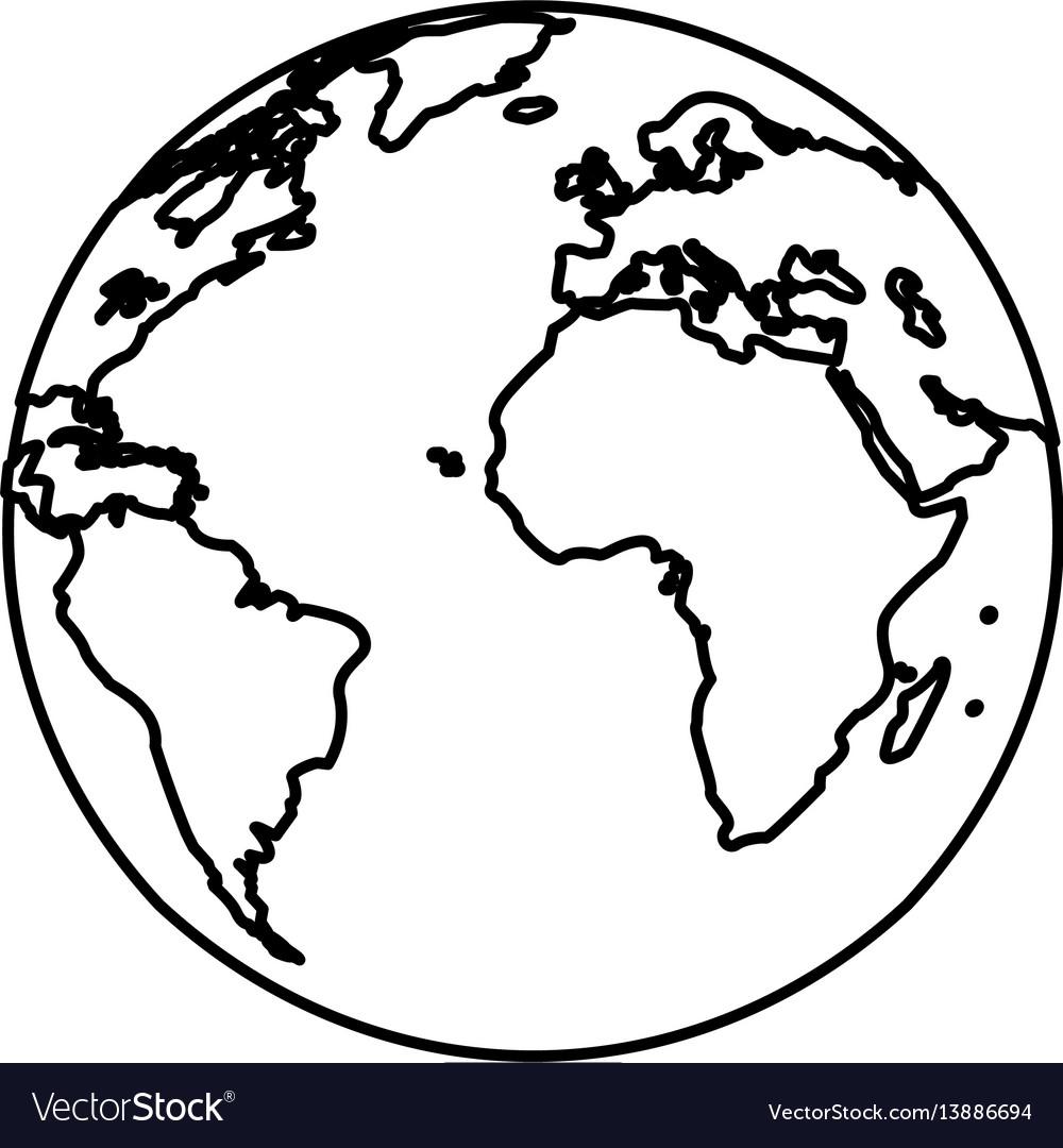 Earth planet world image line