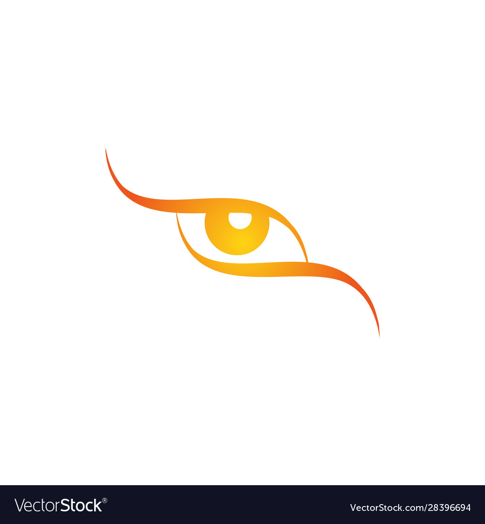 Logo eye all-seeing logo eye stylized logo vector