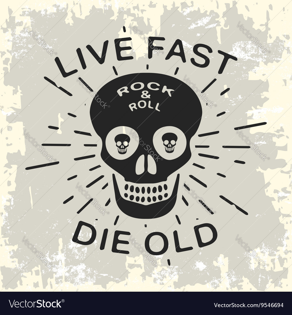 Rock and roll vintage stamp
