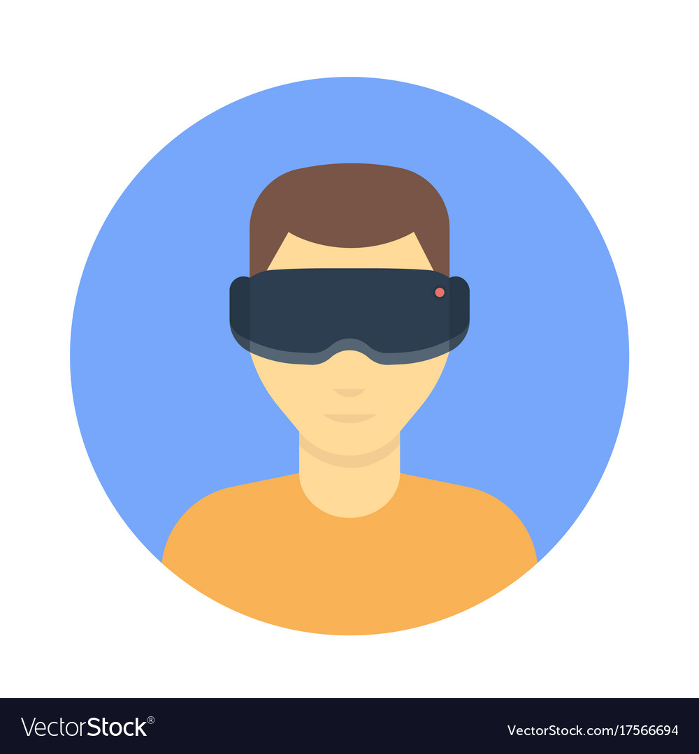 a50c8951e67f Vr glasses virtual reality headset Royalty Free Vector Image