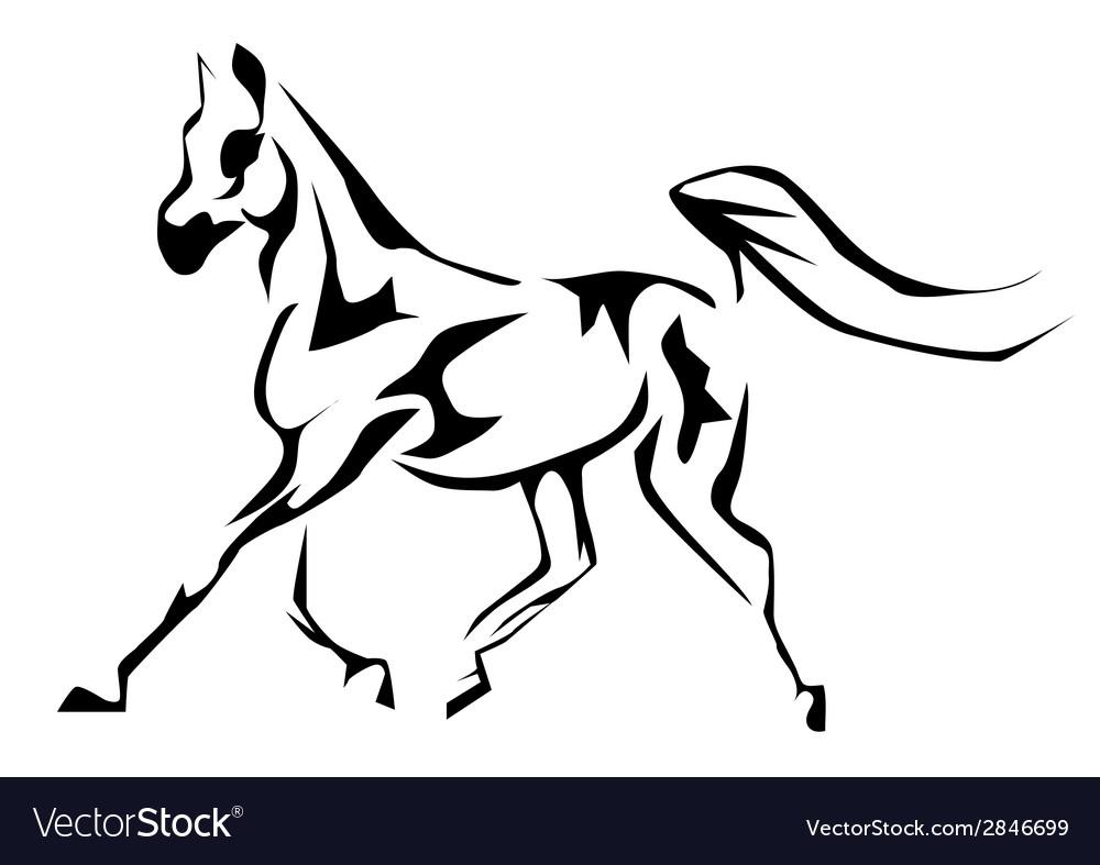 Arabian Horse Vector Image