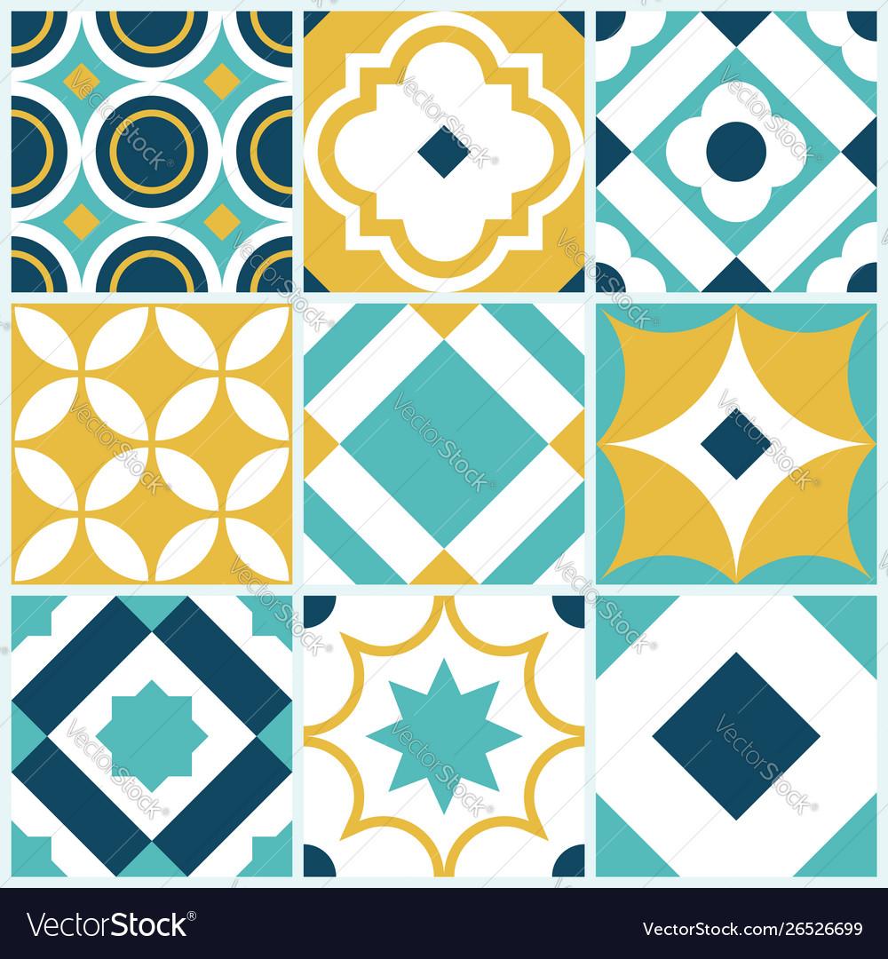Azulejo seamless tile pattern vintage decorative