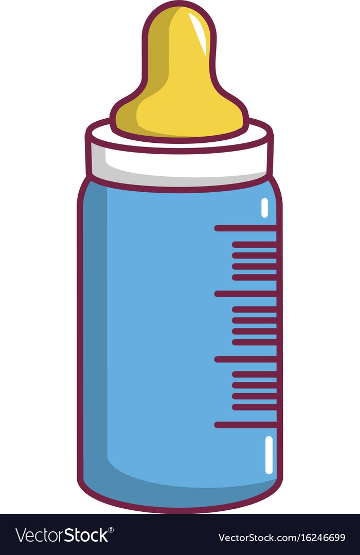 Baby milk in bottle icon cartoon style
