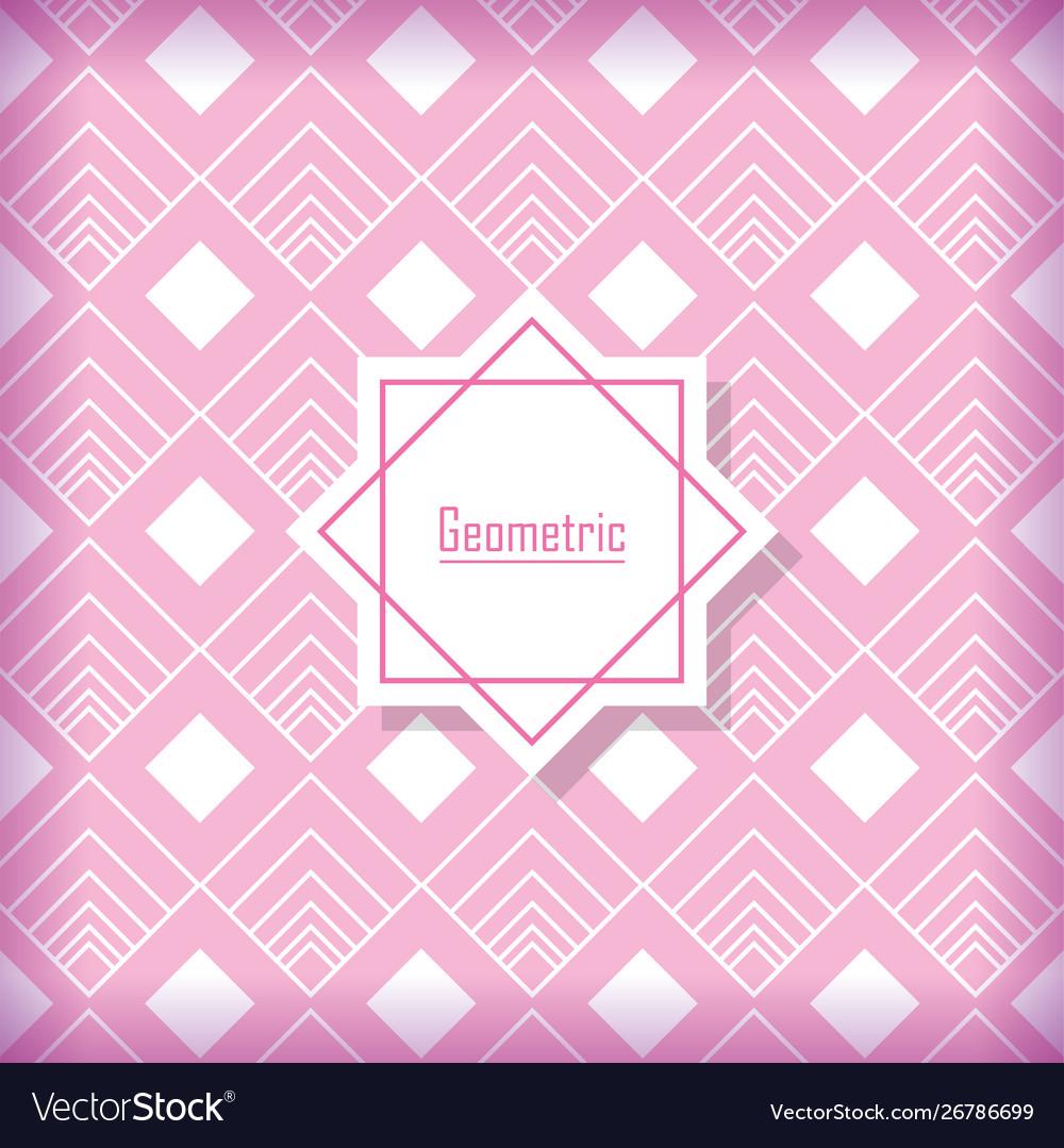 Background geometric decoration flat design