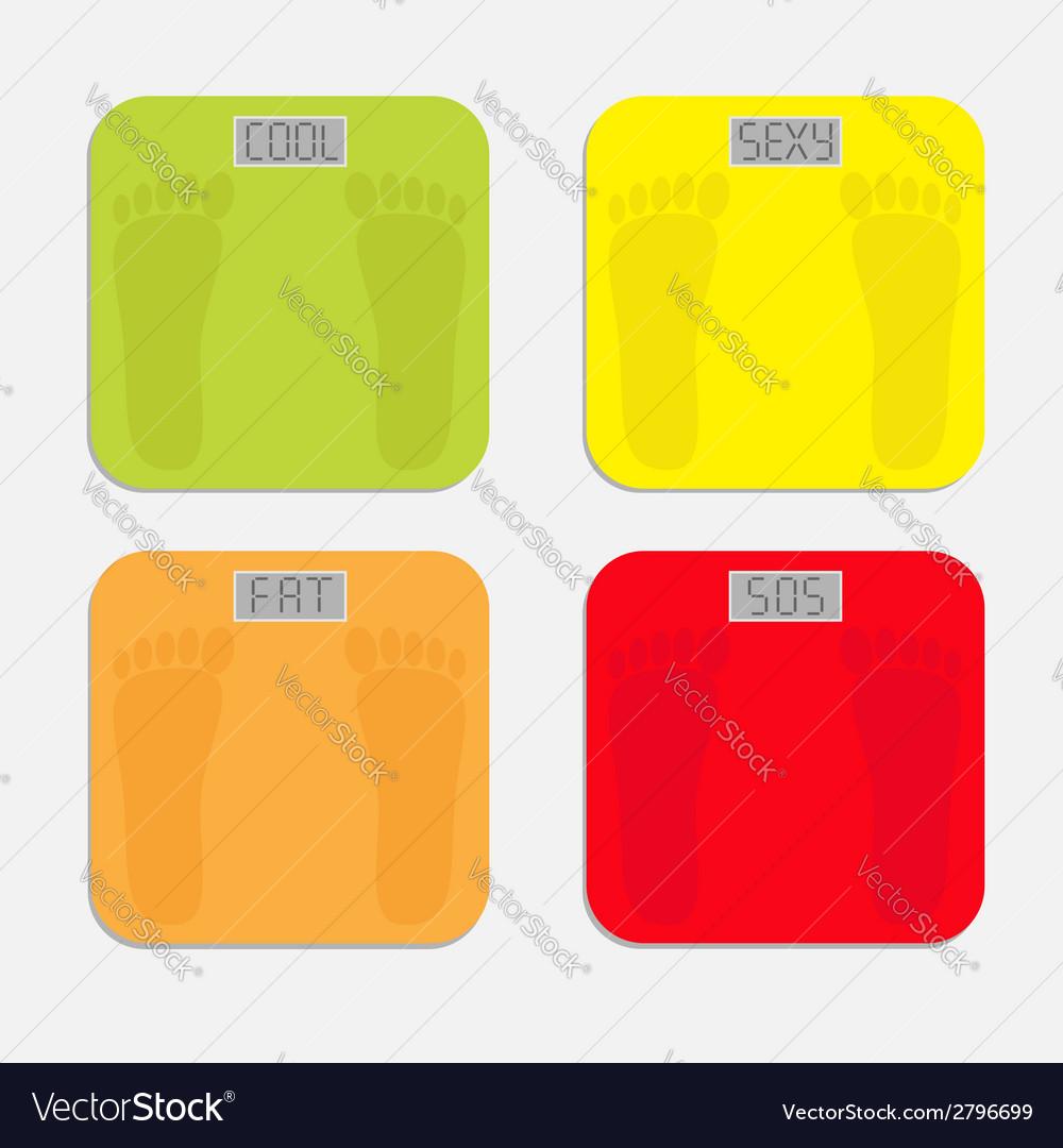 Bathroom floor electronic weight scale set