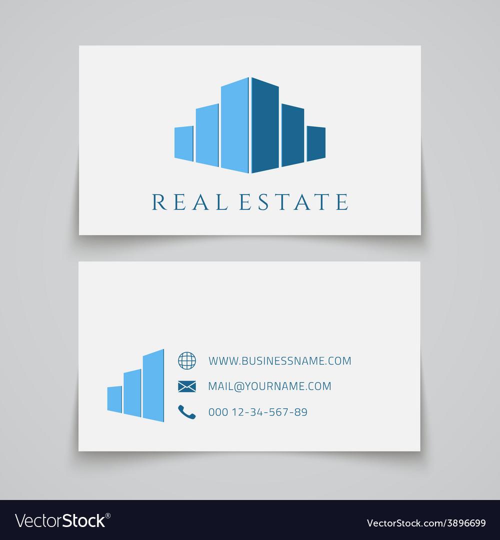 Busines card template Real estate logo