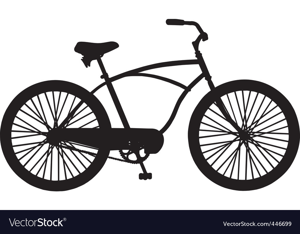 cruiser bicycle royalty free vector image vectorstock rh vectorstock com bicycles victoria bc bicycle vector free
