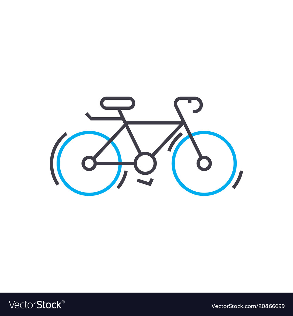 Cycle thin line stroke icon cycle outline