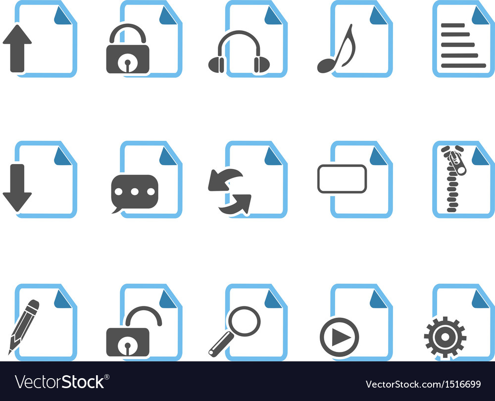 Document icons blue series