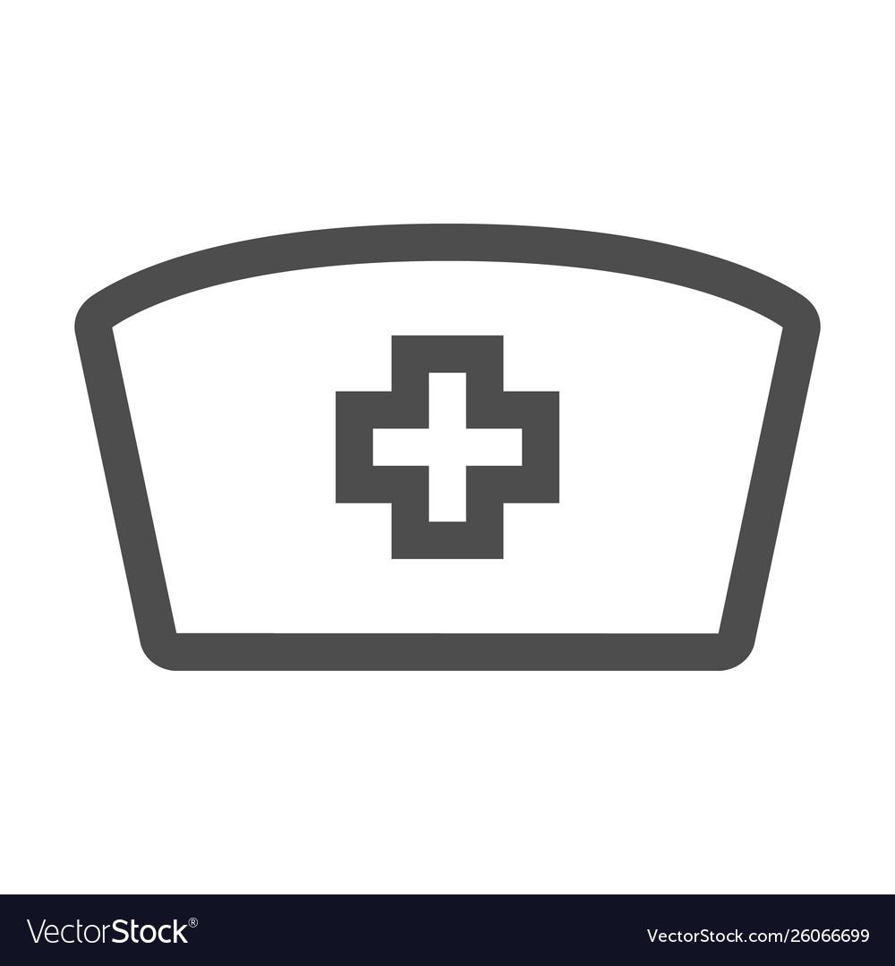 Nurse Hat Icon In Trendy Flat Style Design