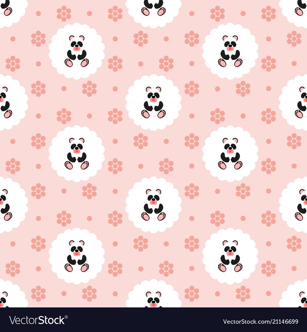Panda baby pattern seamless