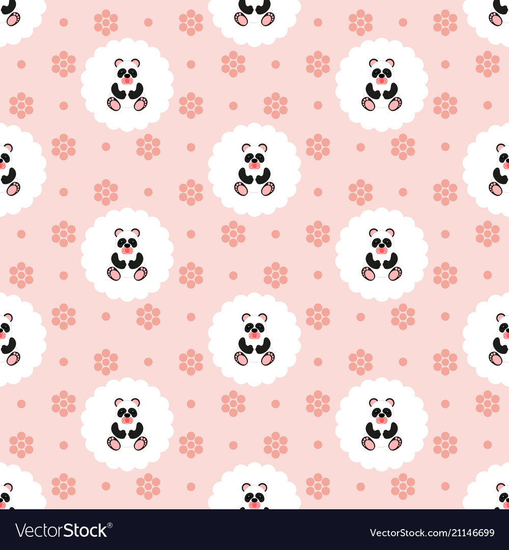 Panda bapattern seamless