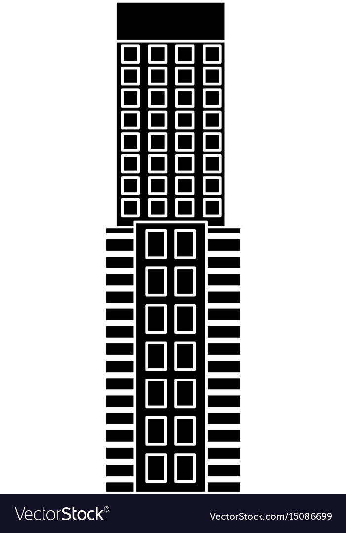 Silhouette of a building facade skyscraper image