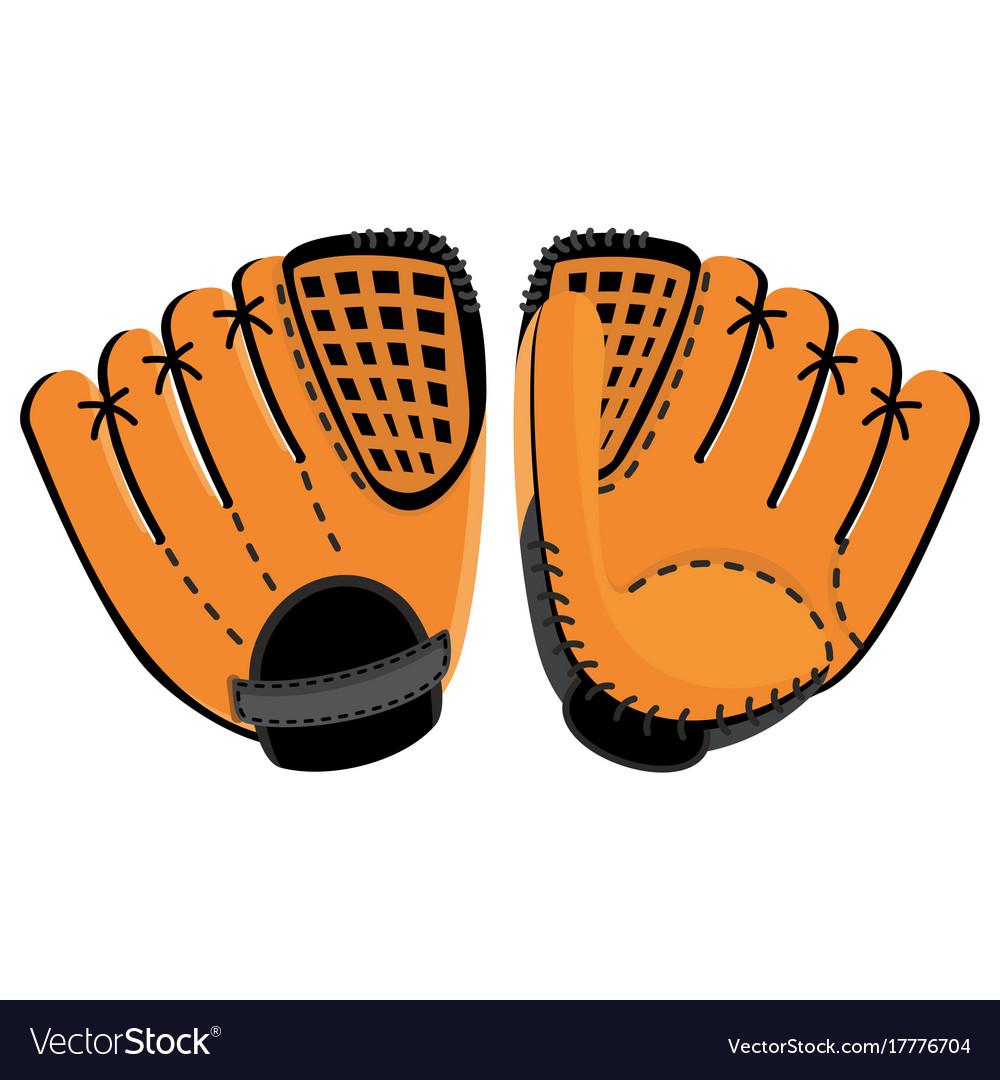 Baseball glove two side
