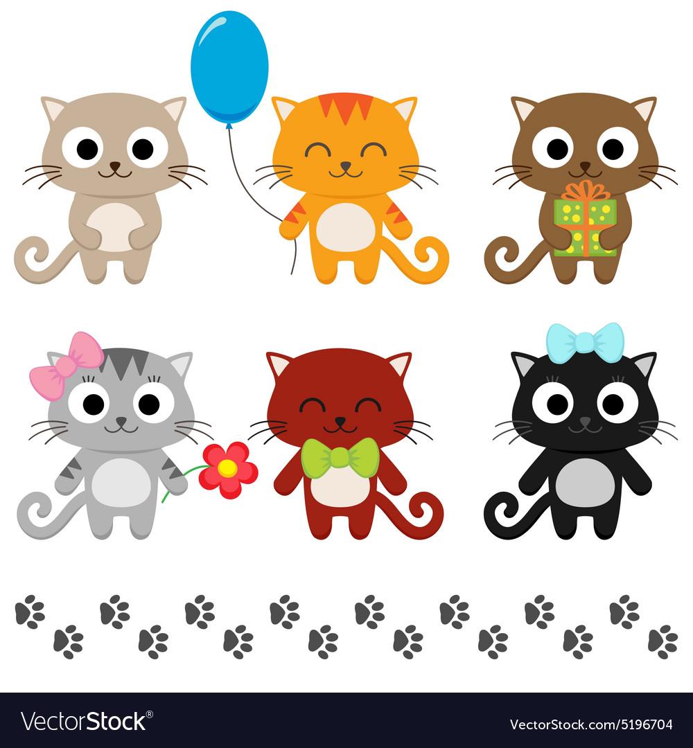 Cartoon kittens vector image