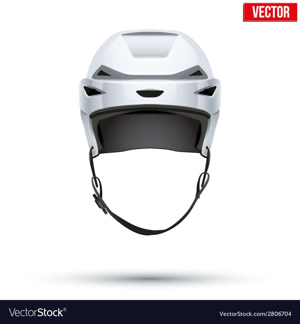 Classic white Hockey Helmet isolated on Background
