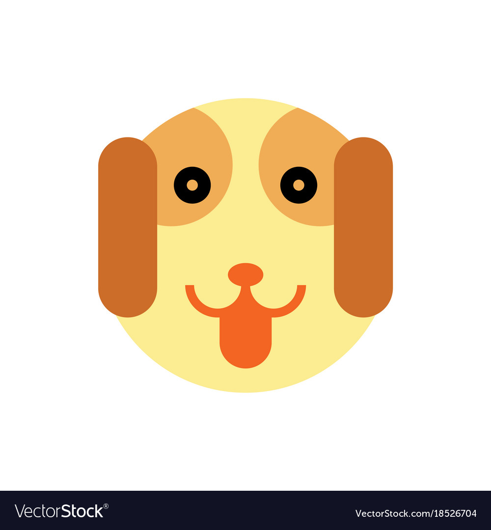 Dog cartoon animal head