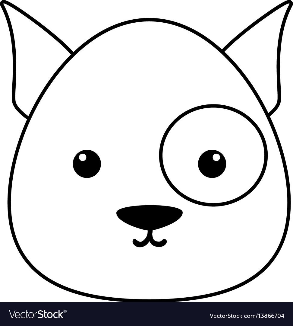 dog drawing face royalty free vector image vectorstock