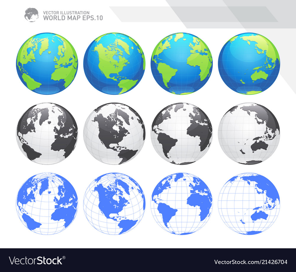 Earth globes sets