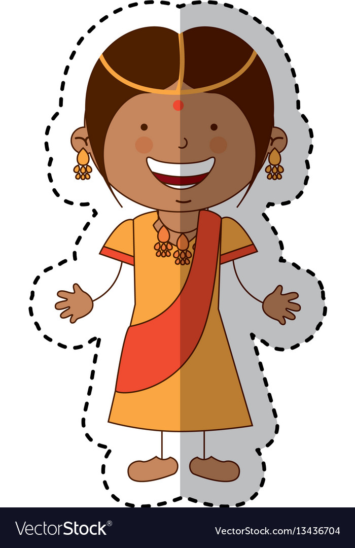 Hindu little girl character