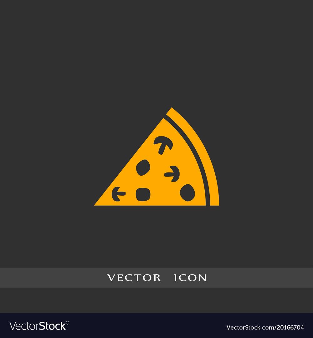 Pizza icon simple