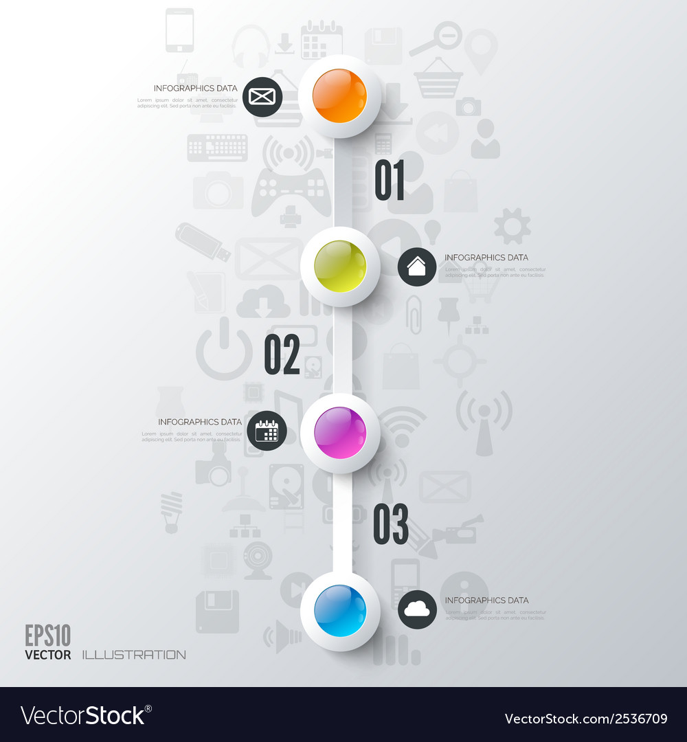 Business step infographic Timeline background
