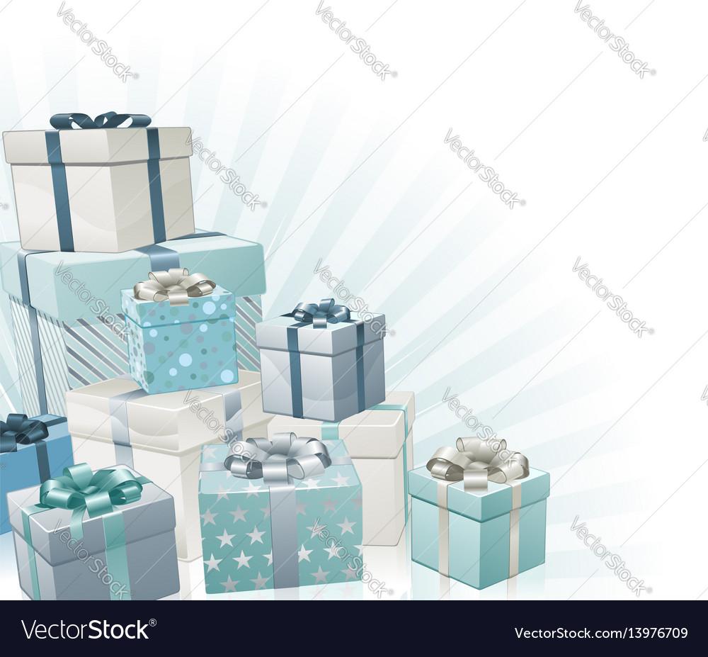 Christmas gifts corner element